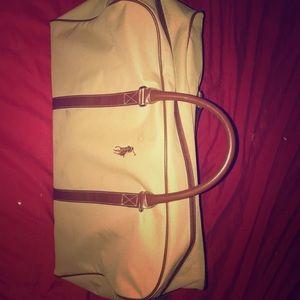 designer Polo duffel bag